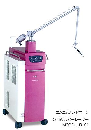 Q-SWルビーレーザーの機械
